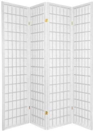 4-panel Room Screen Divider (Wood Shoji Screen)