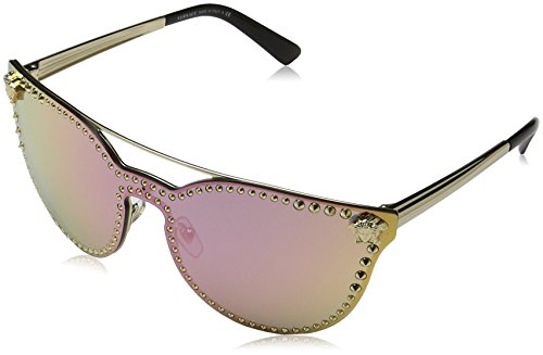 Versace Womens Sunglasses Gold/Pink Metal - Non-Polarized - - Sunglasses Pink Versace