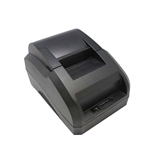 Xfox® 5890C Thermal Printer - H58 90mm/sec High Speed USB Port POS Thermal Receipt Printer compatible 58mm Thermal Paper Rolls - 90mm/sec High-speed Printing with ESC / POS Print Commands.