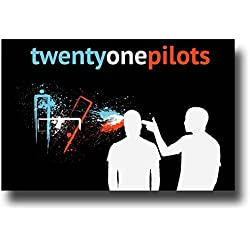 "Twenty One Pilots Poster - 11 x 17 Promo for the ""Dirty"" Album Tour -- sploosh"