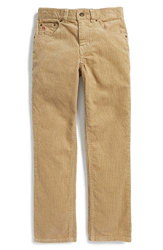 (Ralph Lauren Slim Fit Corduroy Pants (Big Boys) (16, Burm Tan))