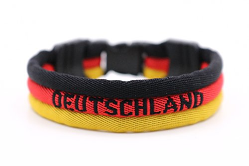 - [Updated] DEUTSCHLAND - Germany Oktoberfest Flag Bracelet - Vivid Colors - 3 Sizes Available (Germany, Small)