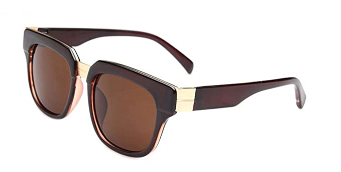 414eaad287e Outray Unisex Flat Glitter Wayfarer Sunglasses B107 Coffee  Amazon ...
