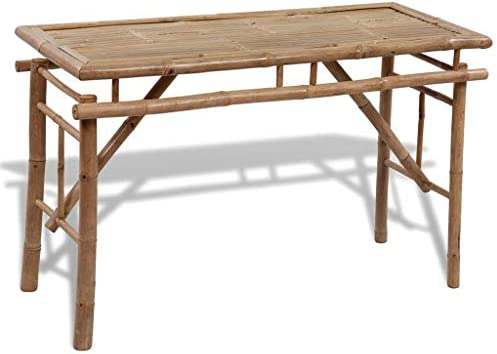 xings huoon Line Mobiliario de jardín de Picnic Mesa y Bancos de 3 Piezas. Set de Muebles de jardín Plegable de bambú: Amazon.es: Jardín