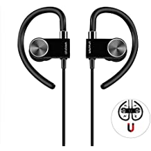 Bluetooth Headphones, Wavefun Wireless 4.1 Magnetic Earbuds aptX Stereo Earphones with Mic for Sports Headset (CVC 6.0 Noise isolation, Up to 8 Hours of Talk Time)
