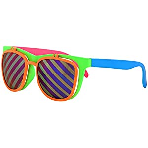 Flip Up Neon Glasses by elope