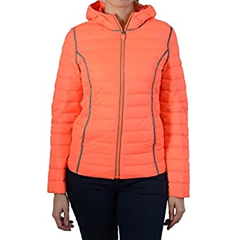Down jacket Jott just over the top for Kant, Reflective Neon