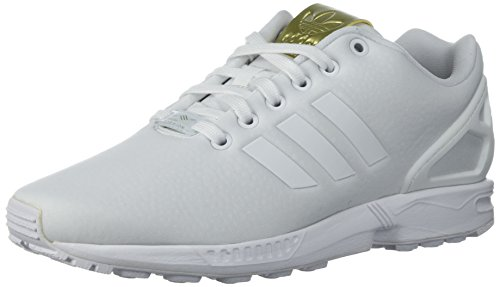 adidas Originals Women's ZX Flux W Running Shoe White/Metallic Gold, 7.5 Medium US