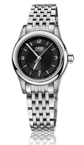Oris Classic Date Black Dial Stainless Steel Ladies Watch 01 561 7650 4034-07 8 14 61