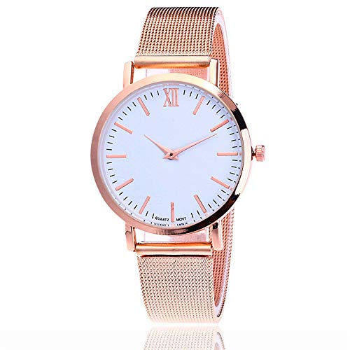 Price comparison product image Clearance! Womens Quartz Watches,  Luxury Business Quartz Wrist Watch Stainless Steel Dial Crystal Bracelet Watches for Girls Gift Present, Leather Band Watch