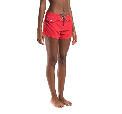 Birdwell Women's Stretch Board Shorts - Regular Rise (Red, 2) by Birdwell Beach Britches (Image #6)