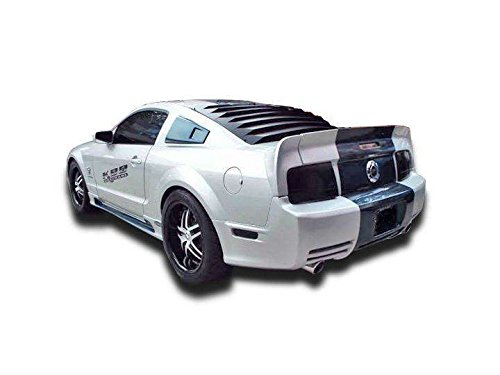 3 Piece Rear Spoiler Wing (KBD Urethane 37-2250 - Ford Mustang Eleanor Style 3 Piece Polyurethane Rear Wing Spoiler)
