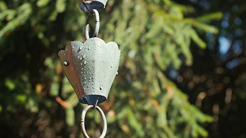 Good Directions 13 Cup Tulip Pure Blue Verde Copper 8.5-Foot Rain Chain Leader by Good Directions (Image #3)