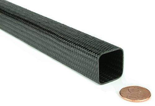 Braided Carbon Fiber Square Tubing - 0.75