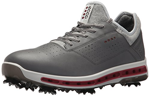 ECCO Men's Cool 18 Gore-Tex Golf Shoe, Dark Shadow/Black Transparent, 44 M EU / 10-10.5 D(M) US