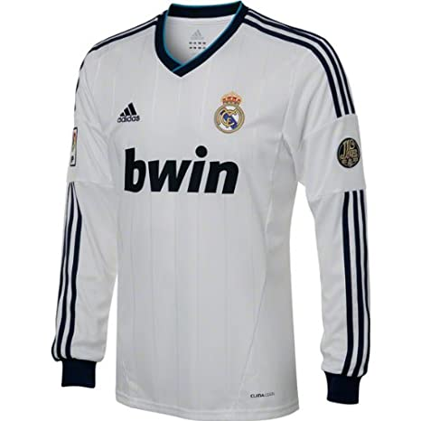 free shipping 62cf3 652cc Amazon.com : adidas Real Madrid Long Sleeve Home Soccer ...
