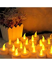 Set of 8 LED Candle Light Flameless Romantic Party Yellow