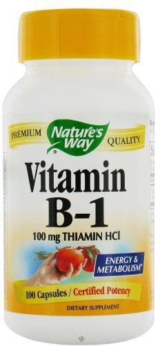 Nature's Way Vitamin B-1 100 Mg - 100 Capsules ( 12-Pack) by Nature's Way