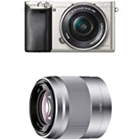 Sony Alpha a6000 Interchangeable Lens Camera with 16-50mm and 50mm Lenses (Silver)