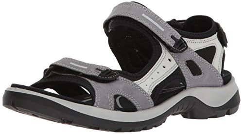 ECCO Women's Yucatan outdoor offroad hiking sandal, titanium, 6-6.5 M US