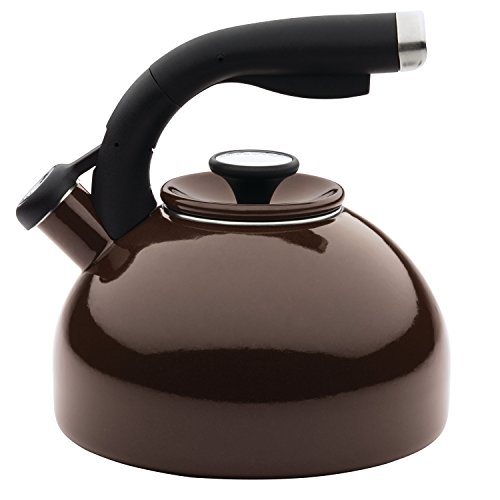 Circulon Enamel on Steel Teakettles 2-Quart Morning Bird Teakettle, Chocolate