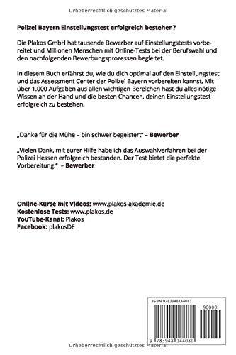 ᐅ Polizei Bayern Einstellungstest Plakos