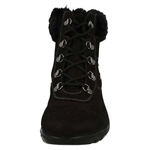 Chaussures en Kisco noir Bottes Femme Dal Van nubuck UqwAT5xn