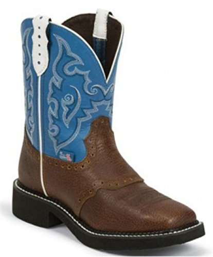 Gypsy Cowgirl Collection - Justin Boots Gypsy Collection Riding Women's Brown with Blue 6 B