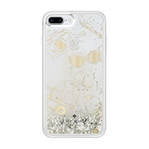 kate spade new york Liquid Glitter Clear Case for iPhone 7 Plus - Gold / Favorite Things