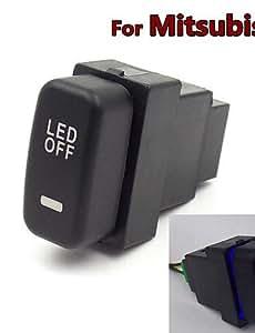 NBCVFUINJ® luces especiales niebla del coche 12v interruptor de la luz de marcha diurna dedicados cambiar el uso para mitsubishi asx outlander lancer