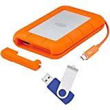 LaCie Rugged Thunderbolt USB 3.0 2TB External Hard Drive - Flash Transfer Kit