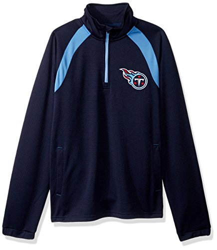 - G-III Sports NFL Tennessee Titans High Impact Half Zip Pullover, Medium, Navy