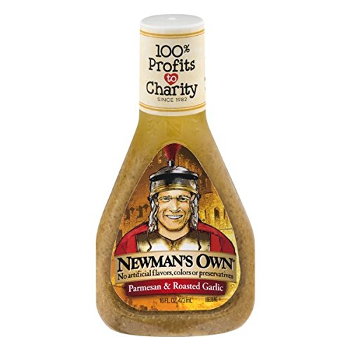 Newman's Own Salad Dressing, Parmesan & Roasted Garlic, 16 Ounce (Parmesan Salad Dressing)