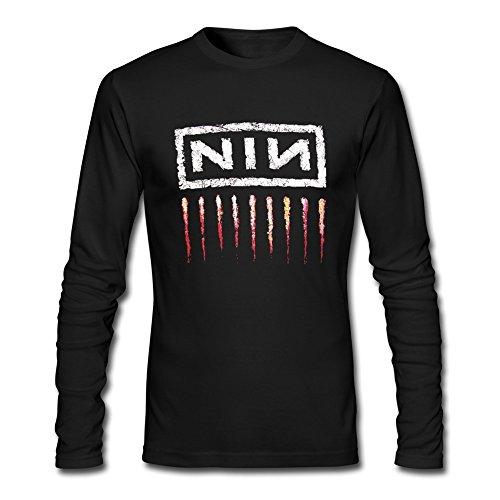 - HeZone Men's Nine Inch Nails Logo Long Sleeve T-shirts Black L