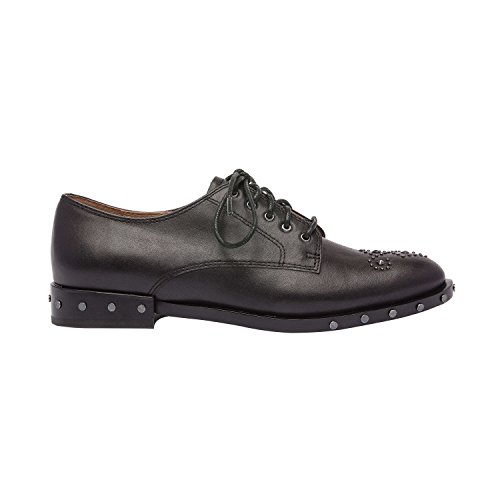 Comfortable Menswear Leather Studded Inspired Leather Flat Shoe New Heel Low Black Oxford Matteo Lace up Fall Txn4Z481