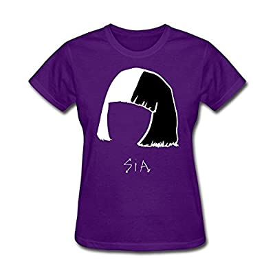 Women's Sia Head Art Round Collar Customised T Shirts