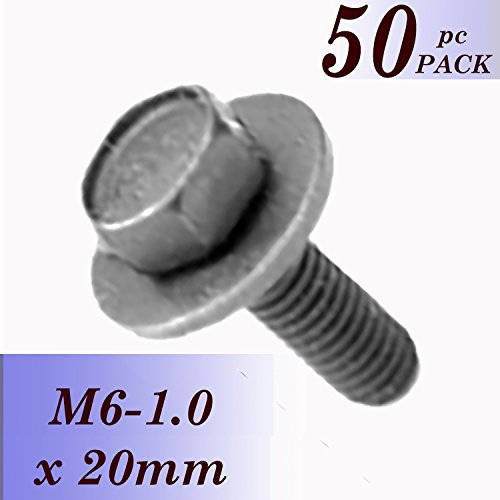 BoltmanShop 6-1.0 X 20MM Hex Head SEMS 17MM OD - Phosphate - Body 20mm Wide