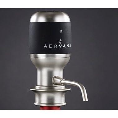 Aervana – One-Touch Luxury Wine Aerator (Original, Award Winning, Meets FDA Standards, Electric Wine Aerator)