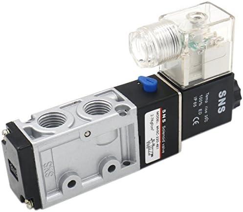 Heschen Electrical Pneumatic Solenoid Valve 4V120-06 12VDC PT1//8 5 Way 2 Position CE