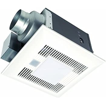 Panasonic fv 08vkml3 whisper white lite 80 cfm ceiling mounted ventilation fan with dc motor for Panasonic whisperfit ez bathroom fan 80 or 110 cfm