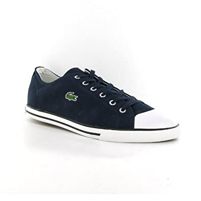 3b54b75fe12f2f Lacoste L27 Navy Canvas Mens Trainers Size 9 UK  Amazon.co.uk  Shoes ...