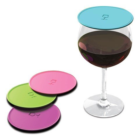 Drink Tops MOD Tap and Seal Outdoor Drink Covers Box Set, 4pk- Summer Crush, Gently suctions to glasses keeping bugs out, aromas in, and reduces ()