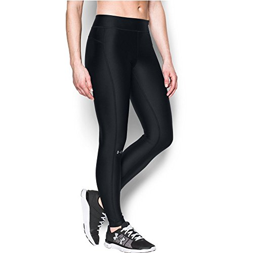 Under Armour Women's HeatGear Armour Legging, Black/Black, Small