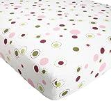 Lambs and Ivy Raspberry Swirl Sheet, Baby & Kids Zone