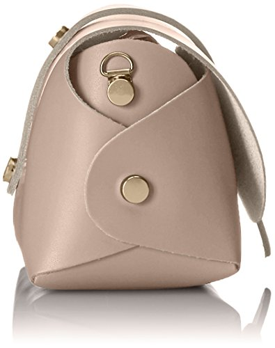 in with genuine shoulder small Woman's Pink Cm CTM leather strap made Clutch Italy Rosa bag Shoulder 18x11x9 x8PwgHX