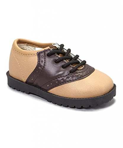 Pitter Patter Childrens Saddle Shoe 4 Colors Available (Infant/Toddler) Beige/Brown 8 M US Toddler