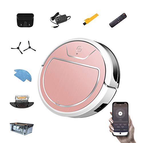 (LFEWOX Robot Vacuum Cleaner,with APP Remote Control 2000Pa Strong Suction System Intelligent Planning map, for Various Floors and Thin Carpet)