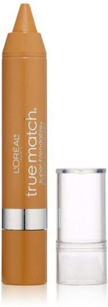 L'Oreal Paris True Match Super-Blendable Crayon Concealer, Medium/Deep Warm 0.10 oz (Pack of 2)