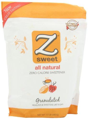 Zsweet All Natural édulcorant zéro calories, les sachets de 1,5 livres (pack de 2)