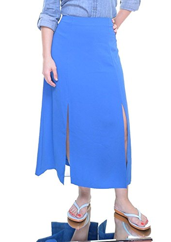 Lauren Ralph Lauren Midi Length Split Skirt, Atmosphere Blue (14) by RALPH LAUREN